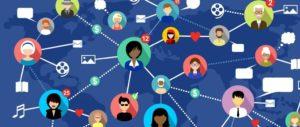 Interactions entre personnes (faux fans) connectées sur Internet