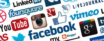pictogrammes des différents réseaux sociaux