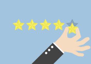 5 étoiles pour avis clients