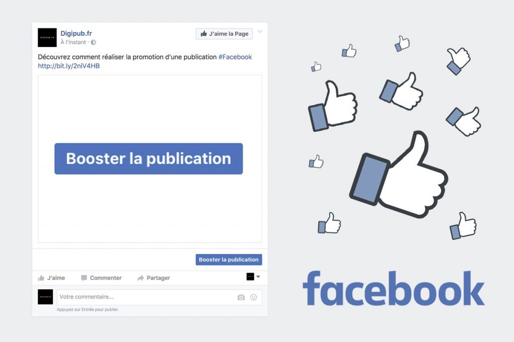 Booster la publication Facebook