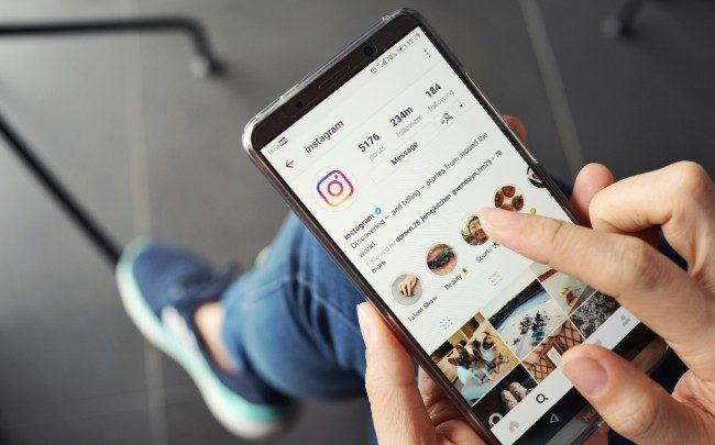 Instagram sur mobile